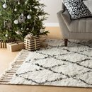 Online Designer Living Room Twinar Hand-Knotted Wool Area rug