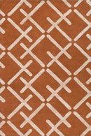 Online Designer Bedroom Burnt Orange and Khaki Rug
