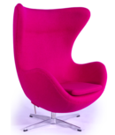 Online Designer Living Room Cashmere Wool Upholstery Egg Chair