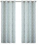 Online Designer Bedroom Cressy Geometric Room Darkening Grommet Curtain Panels