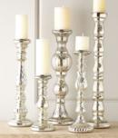 Online Designer Dining Room Five Mercury-Glass Candleholders