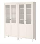 Online Designer Combined Living/Dining HEMNES Storage combination w/glass doors, white stain