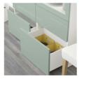Online Designer Business/Office Besta Storage combination  in Selsviken high gloss white with clear glass doors.