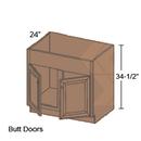 Online Designer Kitchen FSB36 - Shaker II Maple Naval Farm Sink Base Cabinet ( 2 Butt Door