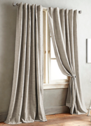 Online Designer Living Room DKNY Front Row 95-Inch Back Tab Window Curtain Panel in Linen
