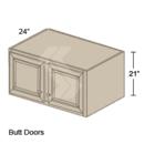 Online Designer Kitchen   RW3621 - Shaker II Maple Bright White Wall Refrigerator Cabinet (2 Butt Door)