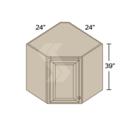 Online Designer Kitchen CW2439 - Shaker II Maple Bright White Corner Wall Cabinet (1 Door)