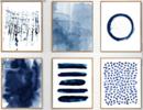 Online Designer Living Room Abstract Watercolor Prints Set of 6