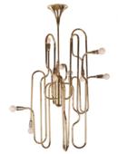 Online Designer Kitchen Clark Trombone Chandelier - Gold