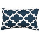 Online Designer Bedroom Trellis Indoor/Outdoor Lumbar Pillow (Navy colour)