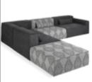 Online Designer Living Room Mix Modular 5 Piece Sectional Sofa