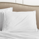 Online Designer Combined Living/Dining Washed Organic Cotton White Standard Sham