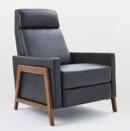 Online Designer Living Room Spencer Wood Framed Leather Recliner