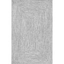 Online Designer Combined Living/Dining Kulpmont Hand-Braided Gray Indoor/Outdoor Area Rug