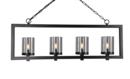 Online Designer Combined Living/Dining Vogel 4-Light Candle-Style Chandelier