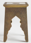 Online Designer Home/Small Office Square embossed accent table