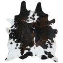 Online Designer Bedroom ALDONA NATURAL COW HIDE BRINDLE/WHITE AREA RUG