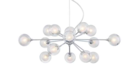 Online Designer Living Room Possini Euro Design Spheres 15-Light Glass Pendant