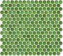 Online Designer Bathroom Penny Round Green Iridescent Glass Tile