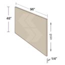 Online Designer Kitchen FP9648-SG - Shaker II Maple Bright White Finished Panel Skin