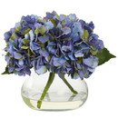 Online Designer Bedroom Blooming Hydrangea in Vase (Blue colour)