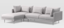 Online Designer Combined Living/Dining Halsey 3-Piece Sectional