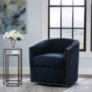 Online Designer Combined Living/Dining Tyler Roma Navy Swivel Chair