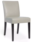 Online Designer Combined Living/Dining Lowe Pewter Leather Dining Chair
