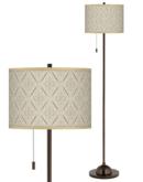 Online Designer Home/Small Office Moroccan Diamonds Giclee Glow Bronze Club Floor Lamp
