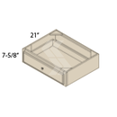 Online Designer Kitchen   VDD30 - Shaker II Maple Bright White Vanity Desk Drawer (1 Drawer)