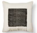 Online Designer Living Room Square Fringe Pillow - Black - Threshold™