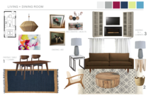 Eclectic Living Room Transformation Hannah C. Moodboard 1 thumb