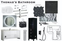 Contemporary Minimal Bathroom Sarah M. Moodboard 1 thumb