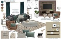 Transitional Comfortbale Living Room in Brown and Grey Tones Rachel H. Moodboard 2 thumb