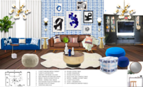 Colorful Eccentric Apartment Living Room Michelle B.  Moodboard 1 thumb