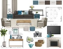 Contemporary pop living room Laura A. Moodboard 2 thumb