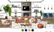 White Eclectic Living Room Michelle B.  Moodboard 2 thumb