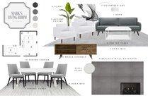 Modern Clean Living/Dining Transformation MaryBeth C. Moodboard 1 thumb