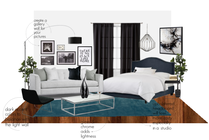 Bachelor Pad Living Room/Bedroom Design Janet Y Moodboard 2 thumb