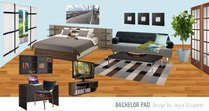 Bachelor Pad Living Room/Bedroom Design Joyce T Moodboard 3 thumb