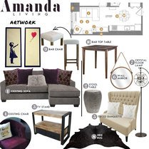 Merediths Glamorous Living & Dining Room Taron H. Moodboard 1 thumb