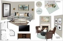 Transitional Living room & Kitchen Rachel H. Moodboard 1 thumb