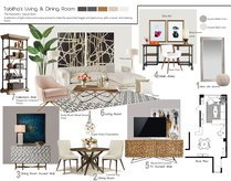Modern Living, dining and bedroom design Tiara M. Moodboard 1 thumb