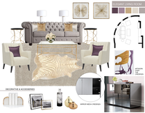 Elegant Living Room Design Picharat A.  Moodboard 2 thumb