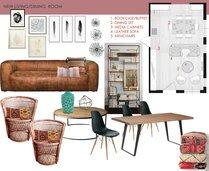 Bohemian Living Room Interior Design Laura D Moodboard 2 thumb