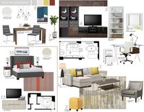 Teal Girls Bedroom Interior Design Online Picharat A.  Moodboard 1 thumb
