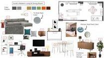 Teal Girls Bedroom Interior Design Online Lindsay B. Moodboard 2 thumb