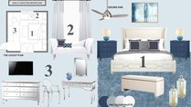 Glamorous & Calming Blue Bedroom Noraina Aina M. Moodboard 2 thumb