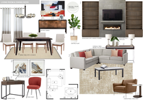 Contemporary White Balanced Living/Dining Area Picharat A.  Moodboard 2 thumb