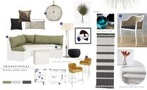 Contemporary Kitchen, Dining & Living Space Laura J. Moodboard 1 thumb